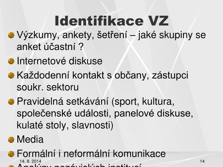 Identifikace VZ
