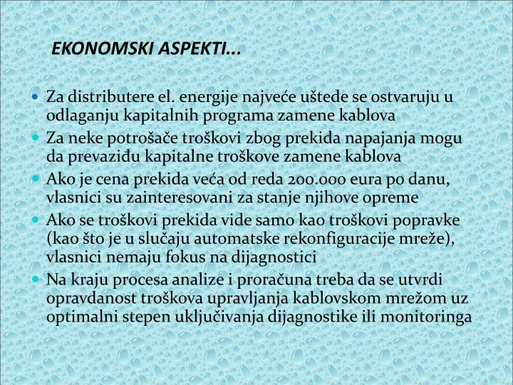 EKONOMSKI ASPEKTI