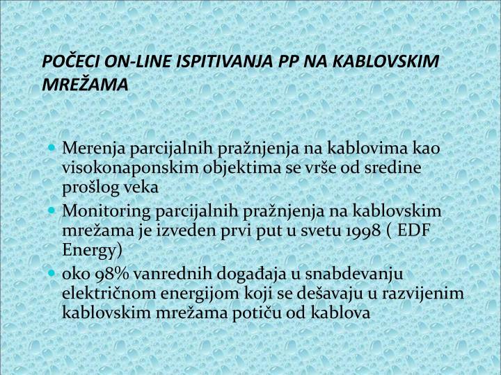 POČECI ON-LINE ISPITIVANJA PP