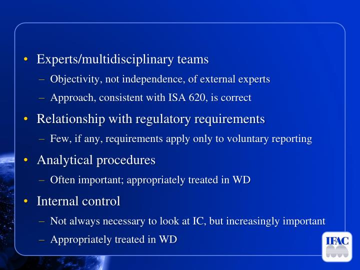 Experts/multidisciplinary teams