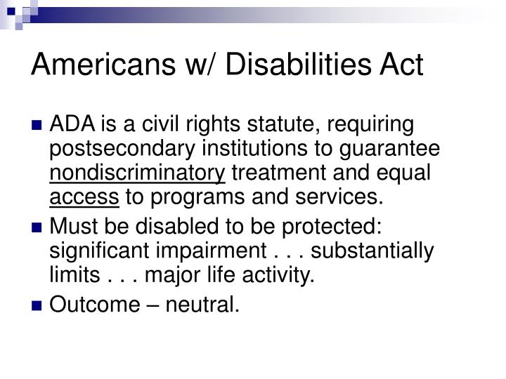Americans w disabilities act