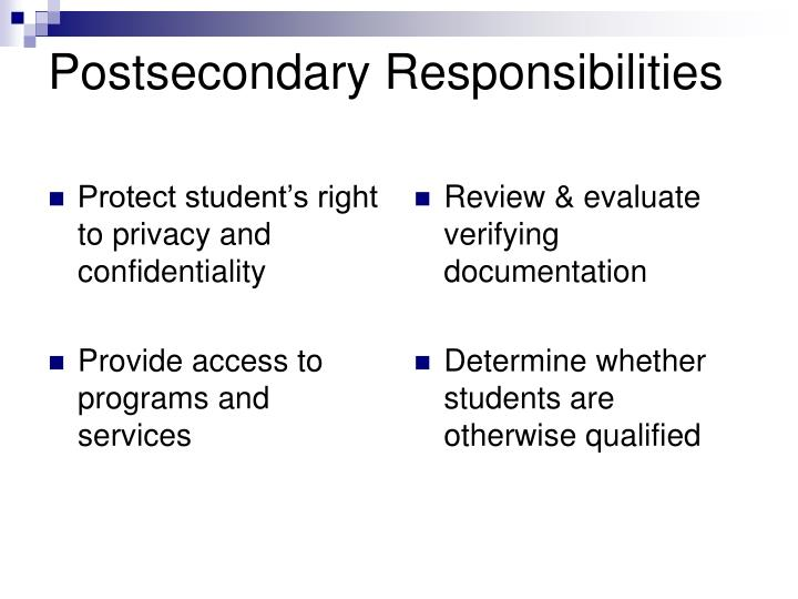 Protect student's right to privacy and confidentiality