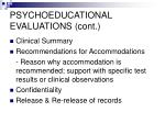 psychoeducational evaluations cont1