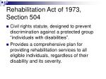 rehabilitation act of 1973 section 504