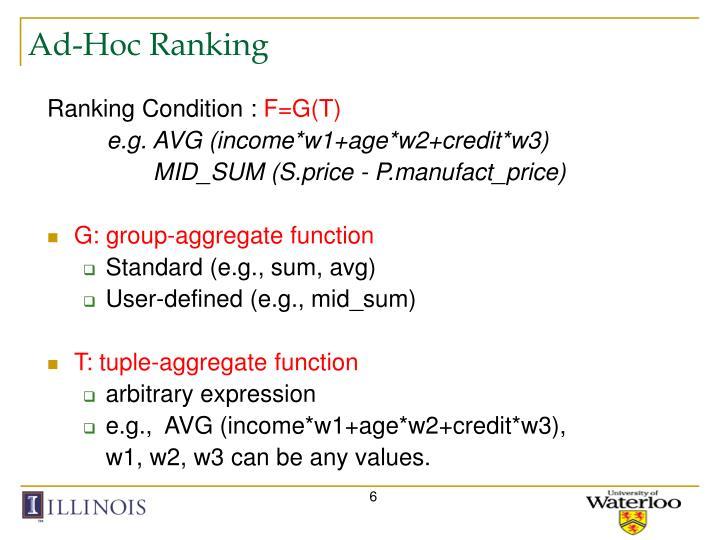 Ad-Hoc Ranking