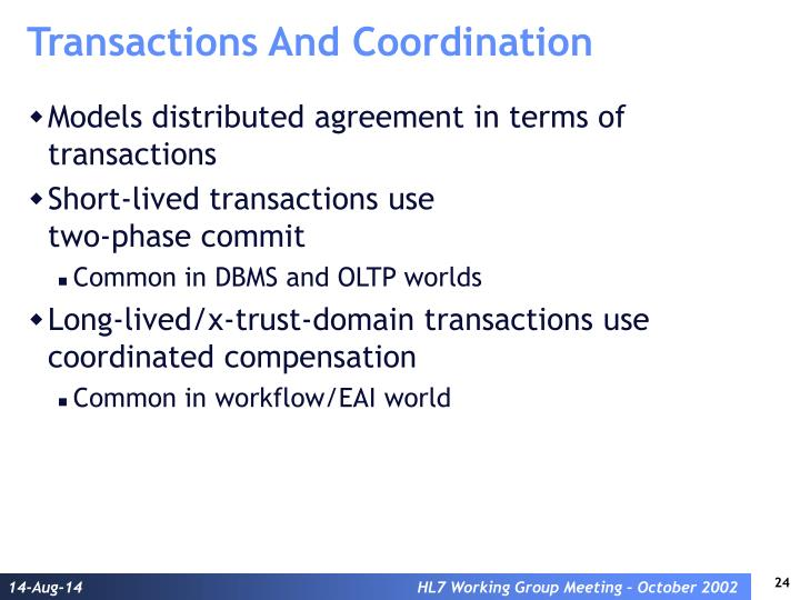 Transactions And Coordination