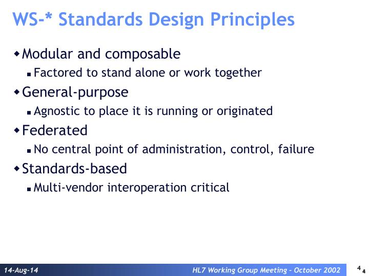 WS-* Standards Design Principles