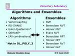 algorithms and ensembles