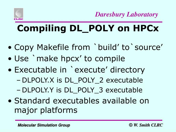 Compiling DL_POLY on HPCx