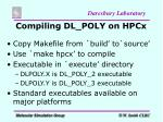 compiling dl poly on hpcx