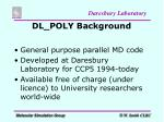 dl poly background
