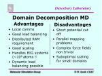 domain decomposition md