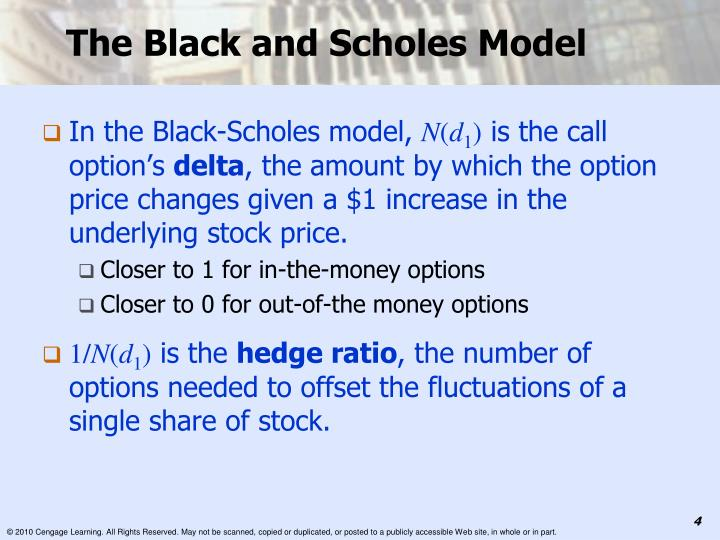 The Black and Scholes Model