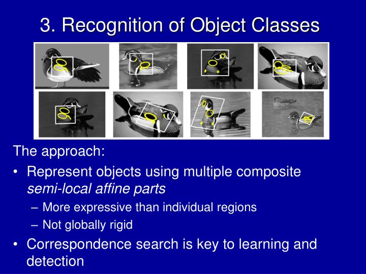 3. Recognition of Object Classes
