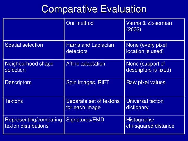 Comparative Evaluation