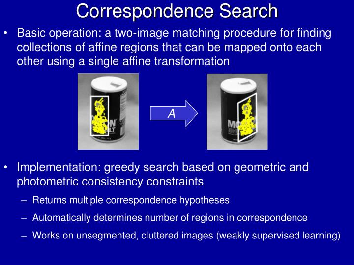 Correspondence Search