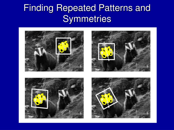 Finding Repeated Patterns and Symmetries