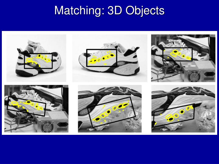 Matching: 3D Objects