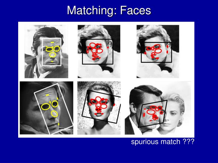 Matching: Faces