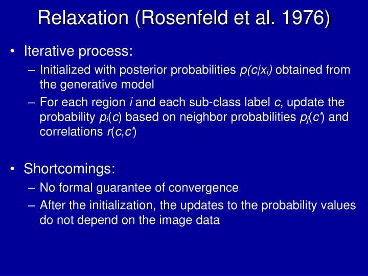 Relaxation (Rosenfeld et al. 1976)