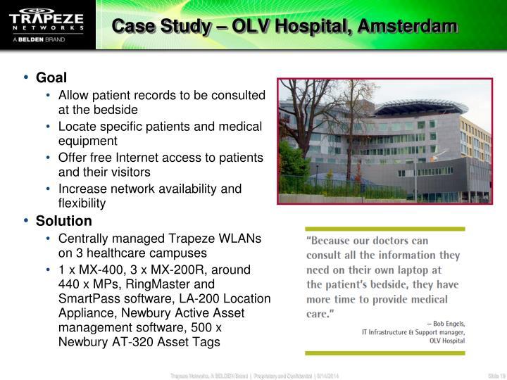 Case Study – OLV Hospital, Amsterdam