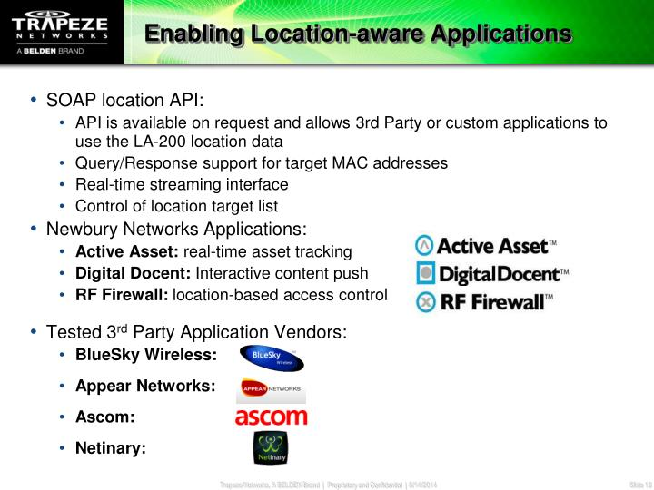 Enabling Location-aware Applications