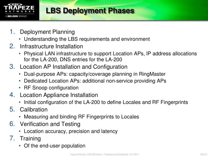 LBS Deployment Phases