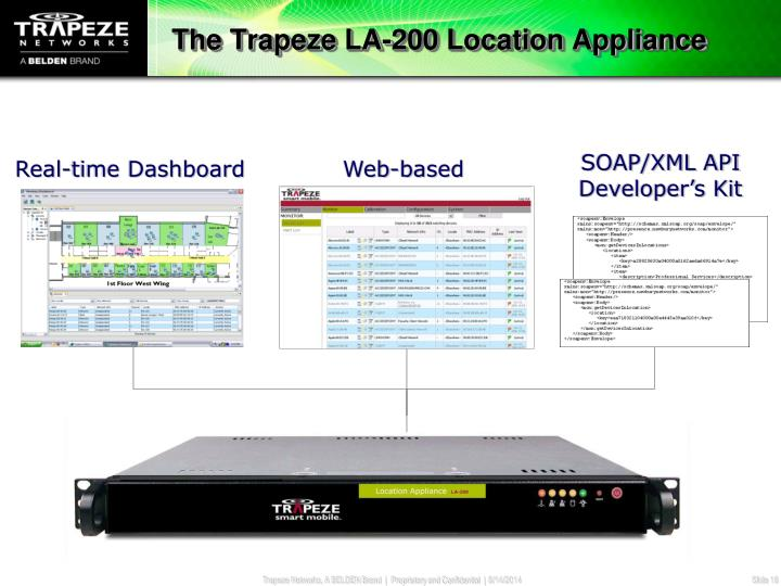 The Trapeze LA-200 Location Appliance