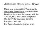 additional resources books