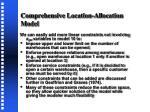 comprehensive location allocation model2