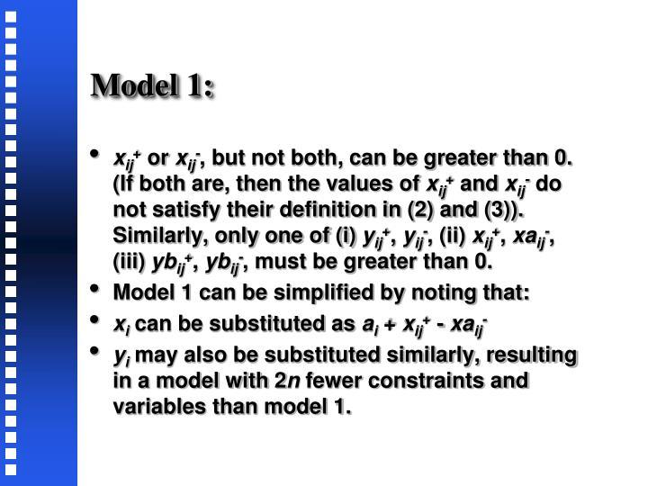 Model 1: