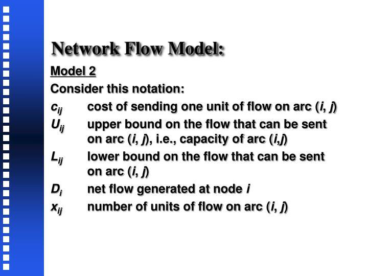 Network Flow Model:
