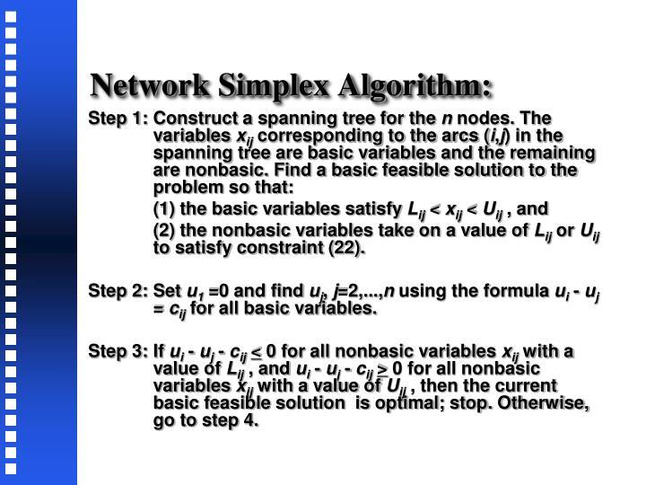 Network Simplex Algorithm: