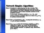network simplex algorithm
