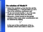 on solution of model 91