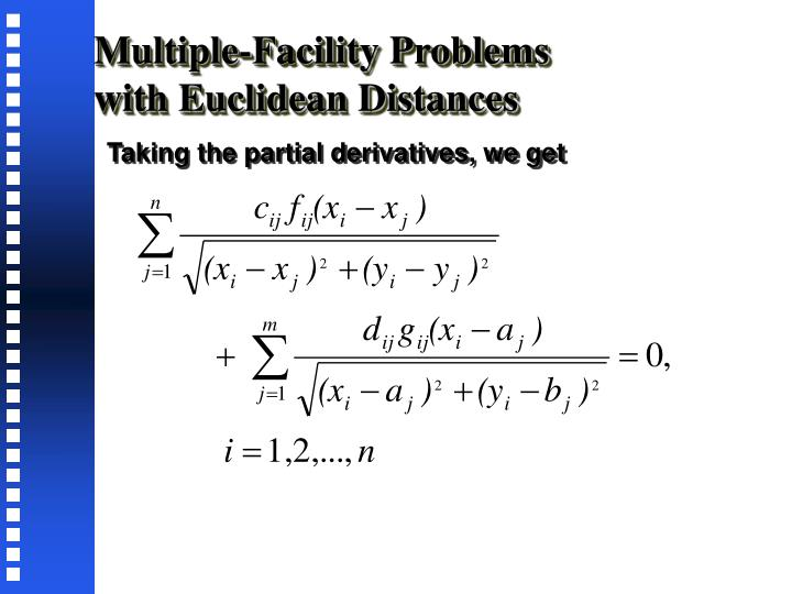 Multiple-Facility Problems