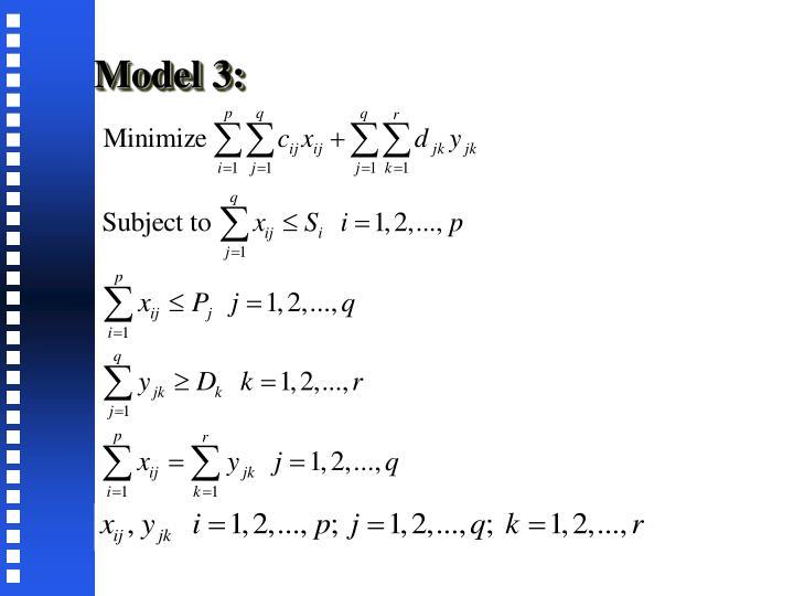 Model 3: