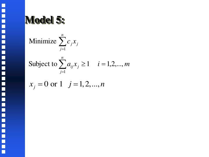 Model 5: