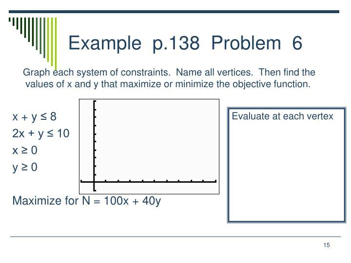 Example  p.138  Problem  6
