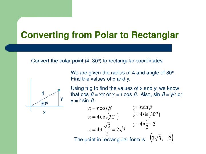 Converting from Polar to Rectanglar