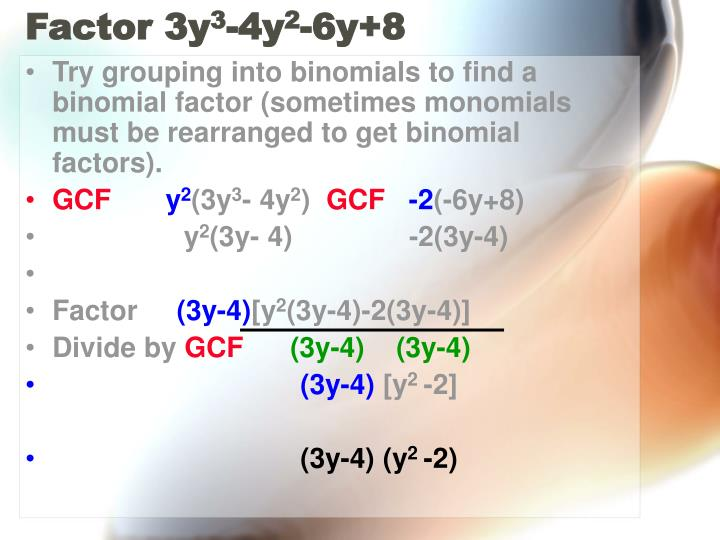 Factor 3y