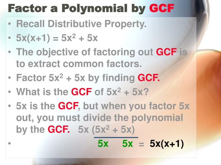 Factor a Polynomial by