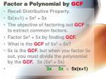 factor a polynomial by gcf