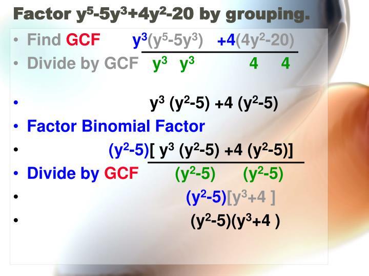 Factor y