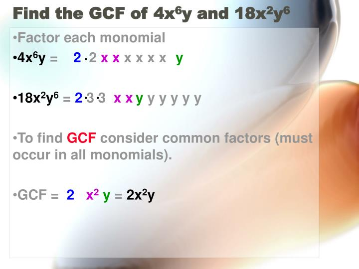 Find the GCF of 4x