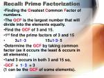 recall prime factorization