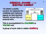 chemical change electric current2