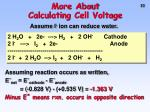 more about calculating cell voltage