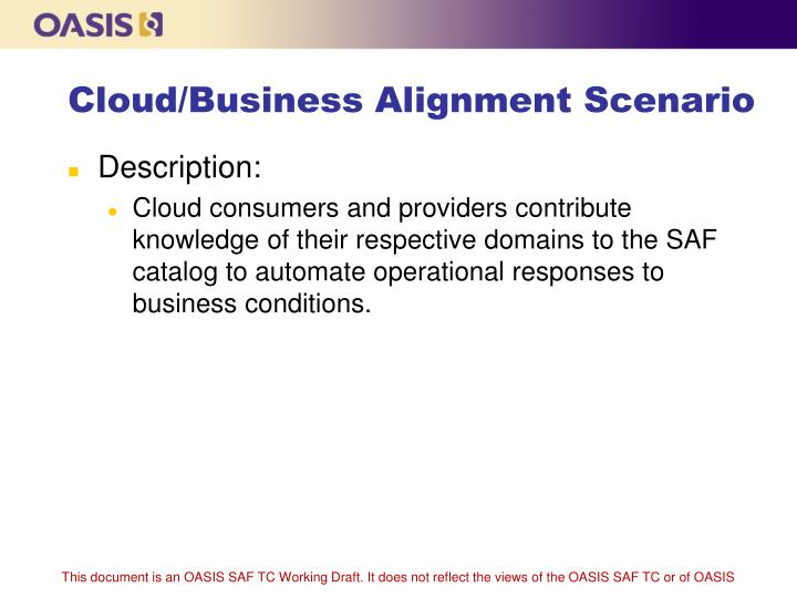 Cloud business alignment scenario