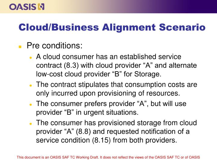 Cloud/Business Alignment Scenario